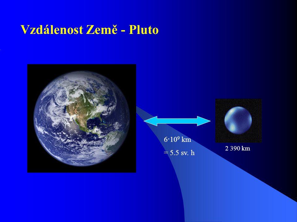 Sluneční soustava Velikost 10 12 km = 1 sv. měsíc Oortův oblak