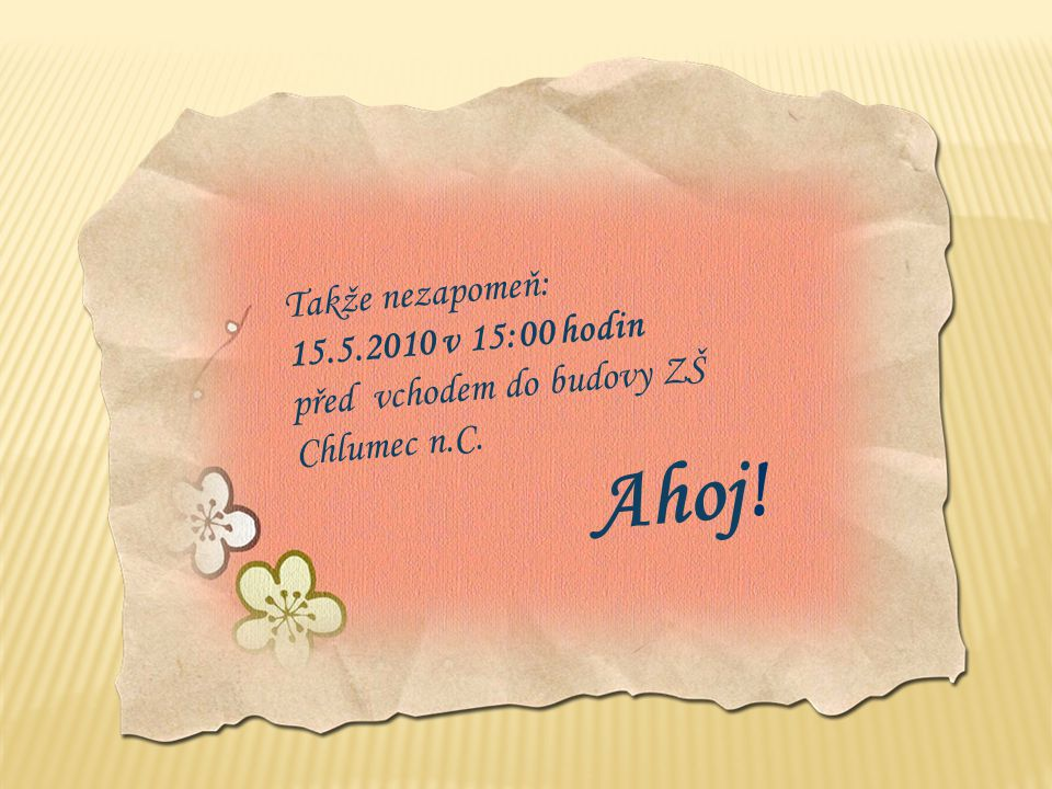 Telefon: 775 304 409 (Naďa Křížová) nebo na mail: nadakrizova.cz@seznam.cz nebo na adresu: Naďa Křížová, Fügnerova 318, 503 51 Chlumec n.C. Po potvrze
