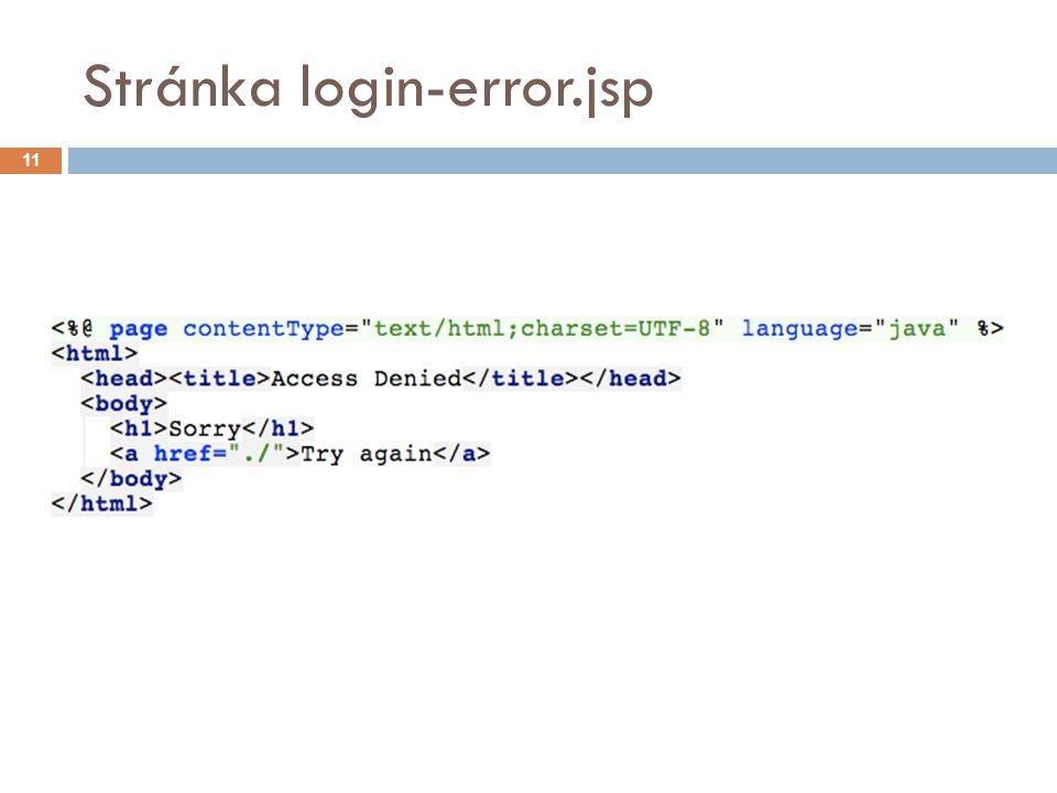 Stránka login-error.jsp 11