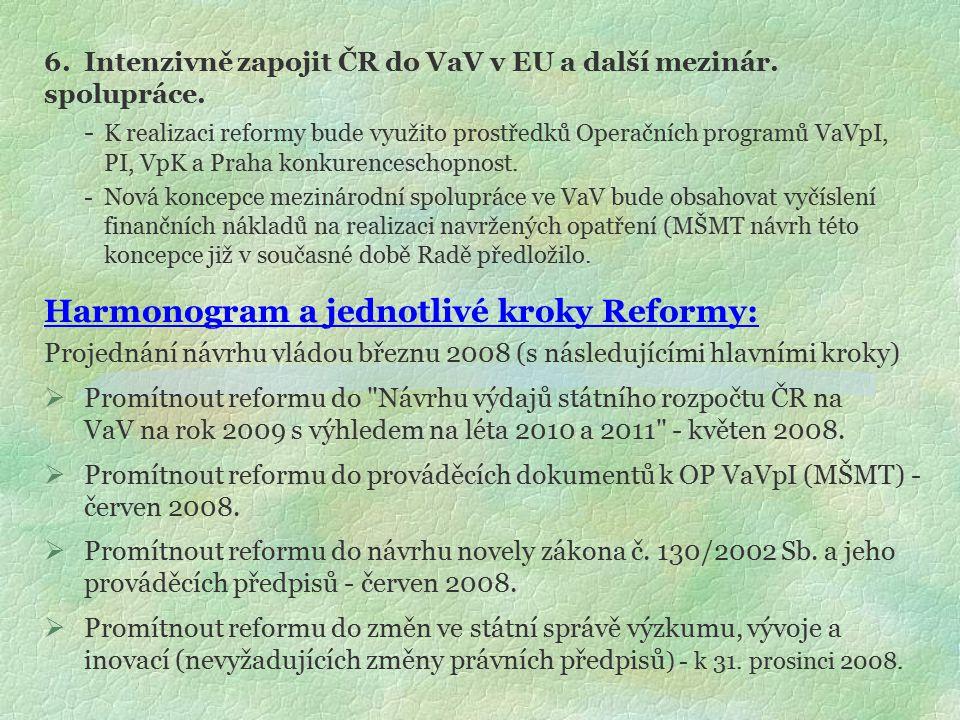 6.Intenzivně zapojit ČR do VaV v EU a další mezinár.