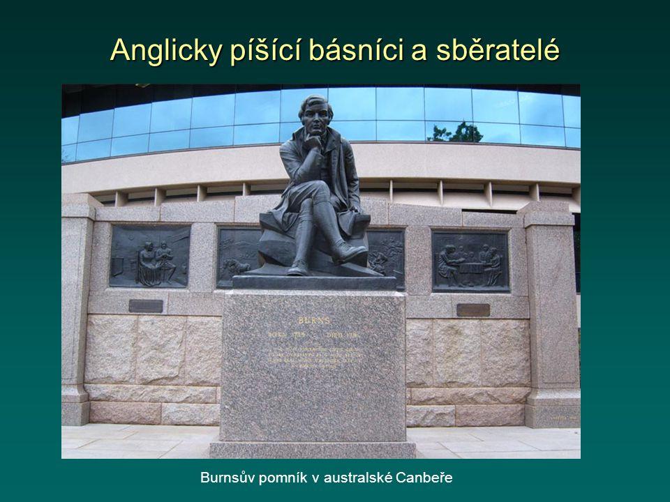 Anglicky píšící básníci a sběratelé Burnsův pomník v australské Canbeře
