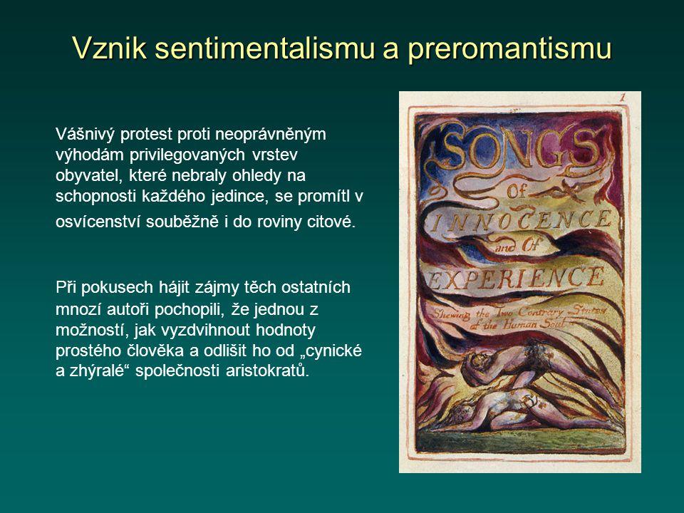 Výtvarné umění v době preromantismu Preromantismus ovlivnil hlavně literaturu.