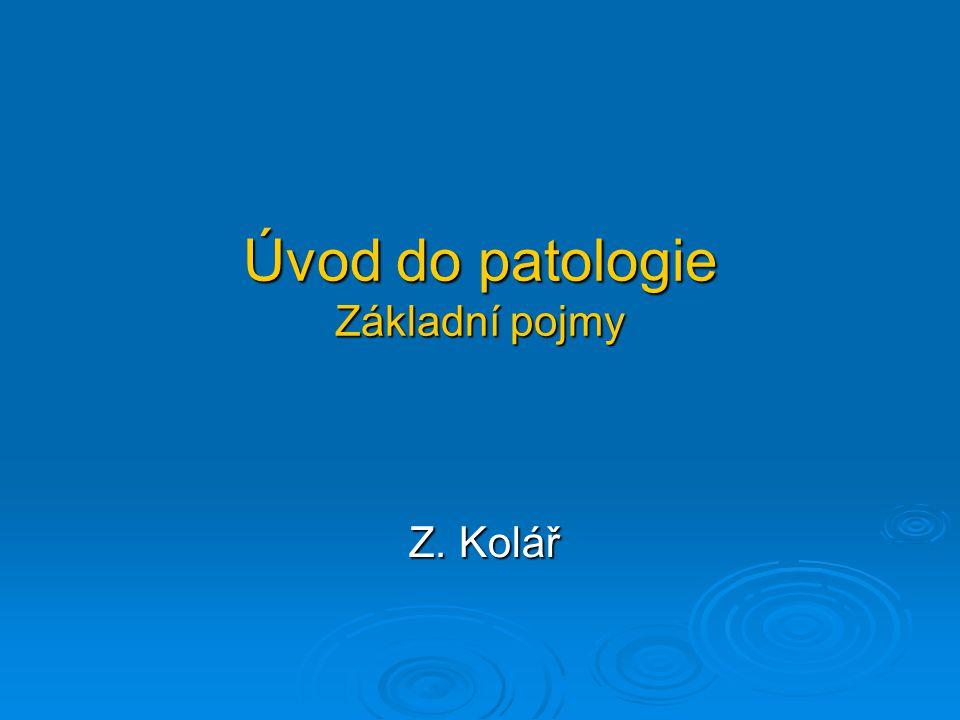 Úvod do patologie Základní pojmy Z. Kolář