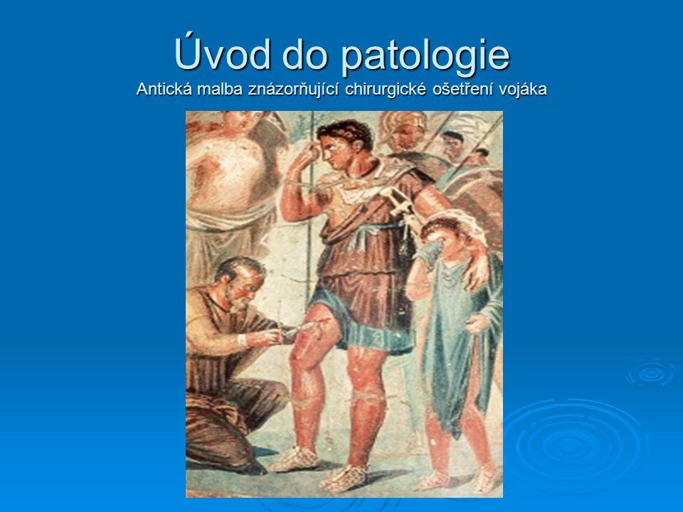 Úvod do patologie Antická malba znázorňující chirurgické ošetření vojáka