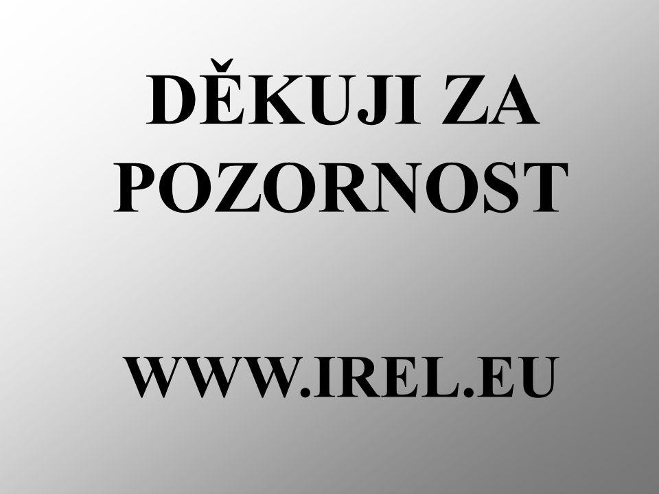 DĚKUJI ZA POZORNOST WWW.IREL.EU