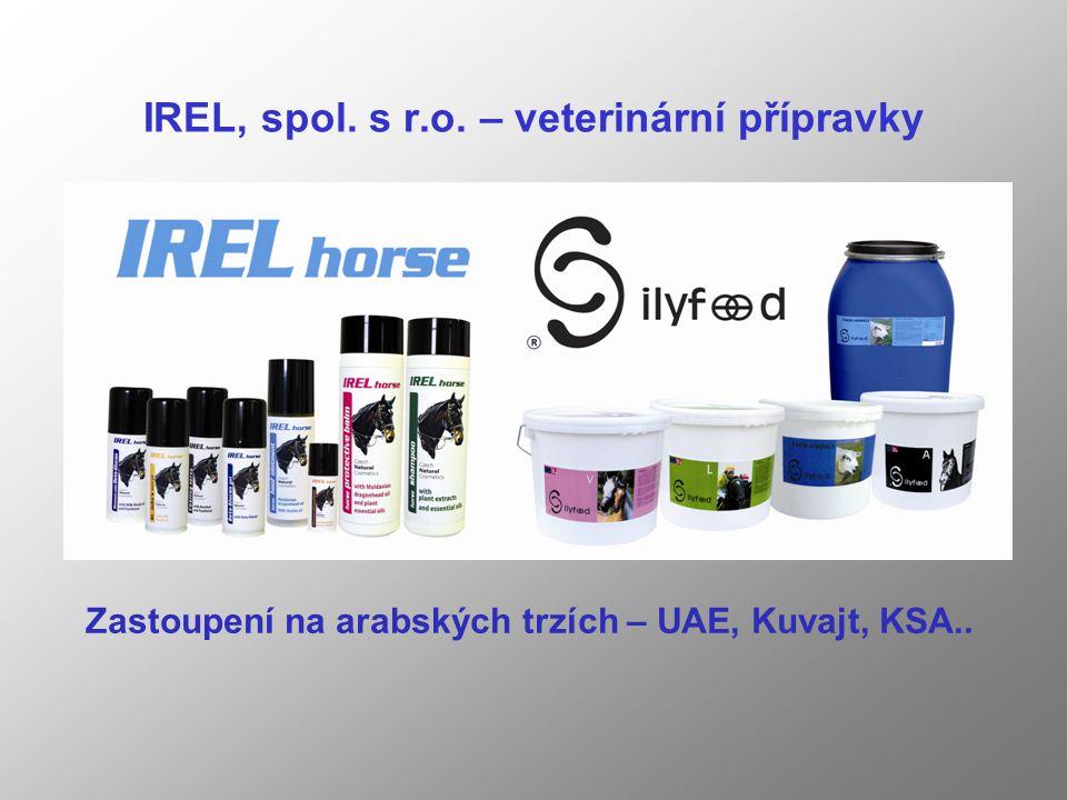 IREL, spol. s r.o. – veterinární přípravky Zastoupení na arabských trzích – UAE, Kuvajt, KSA..