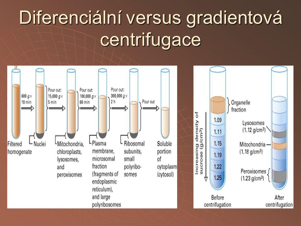 Diferenciální versus gradientová centrifugace