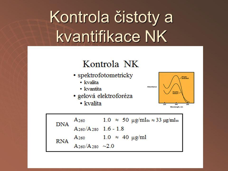 Kontrola čistoty a kvantifikace NK