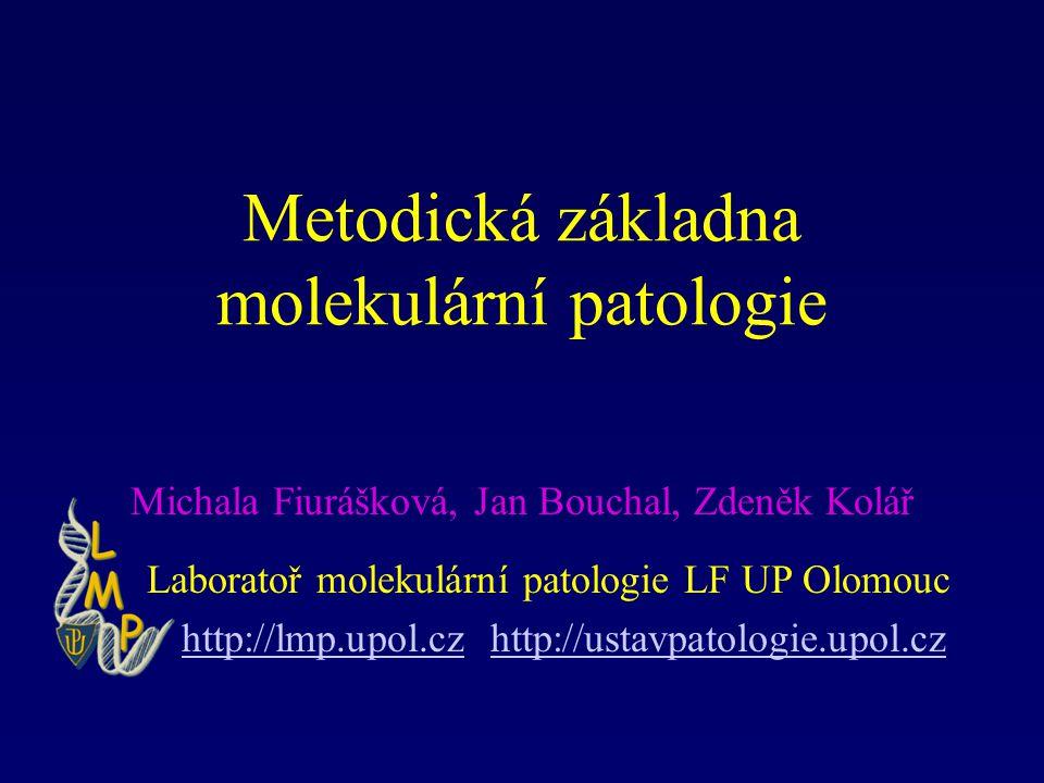 Metodická základna molekulární patologie Michala Fiurášková, Jan Bouchal, Zdeněk Kolář Laboratoř molekulární patologie LF UP Olomouc http://lmp.upol.c