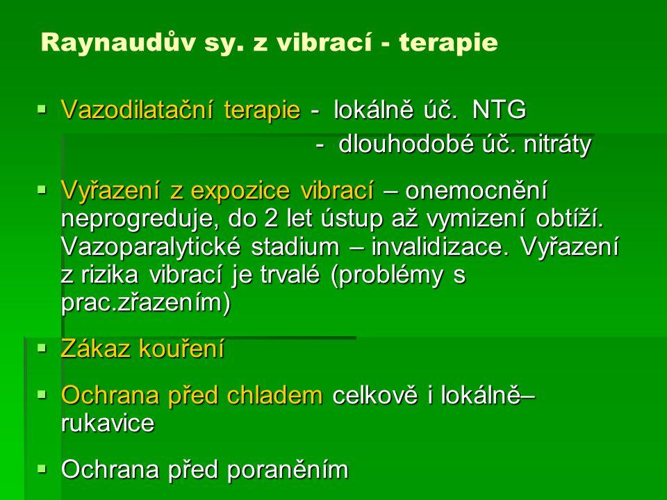 Raynaudův sy.z vibrací – kritéria pro hlášení profesionality  Verifikace zbělení min.