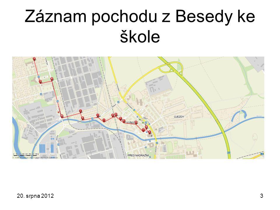 Záznam pochodu z Besedy ke škole 20. srpna 20123