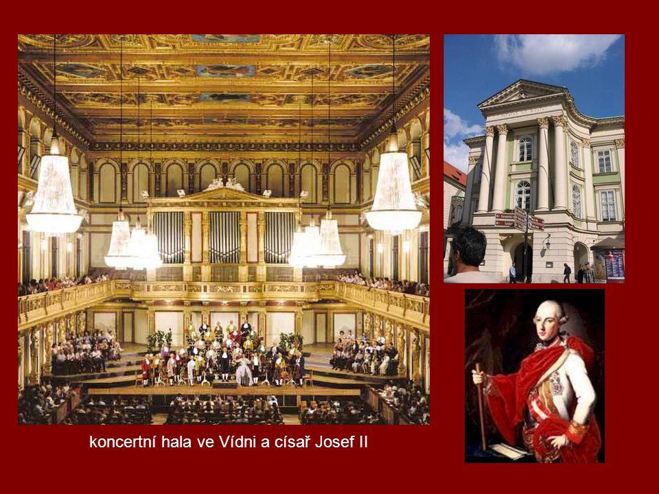 koncertní hala ve Vídni a císař Josef II
