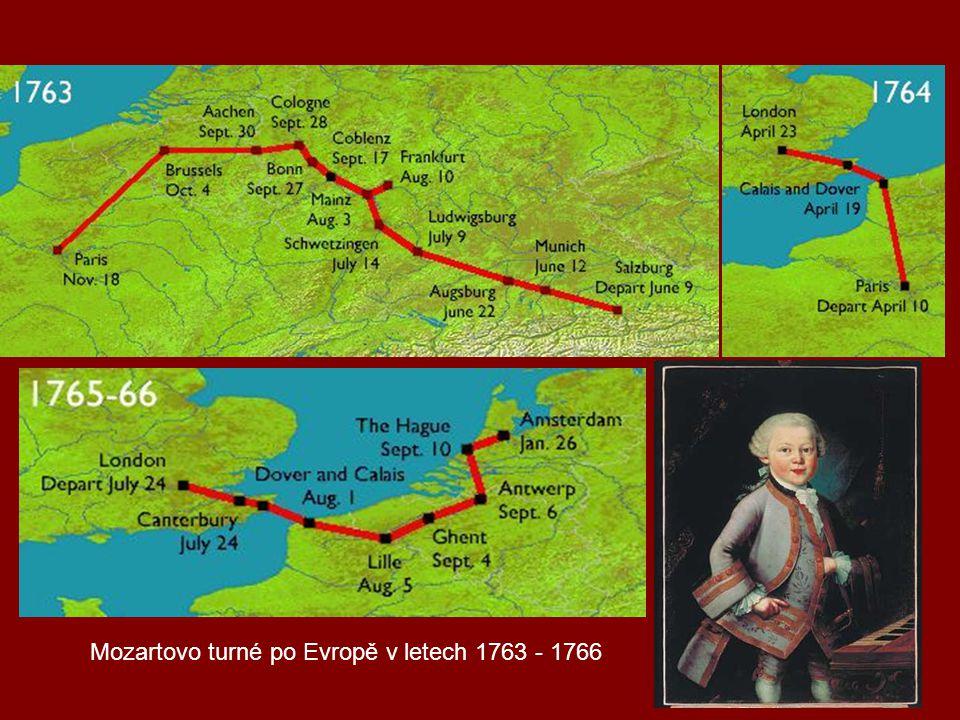 Mozartovo turné po Evropě v letech 1763 - 1766