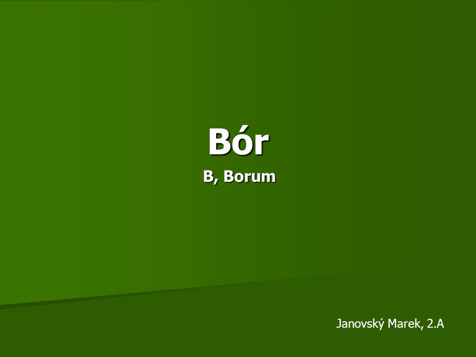 Charakteristika Lat.Borum, značka B Lat. Borum, značka B III.