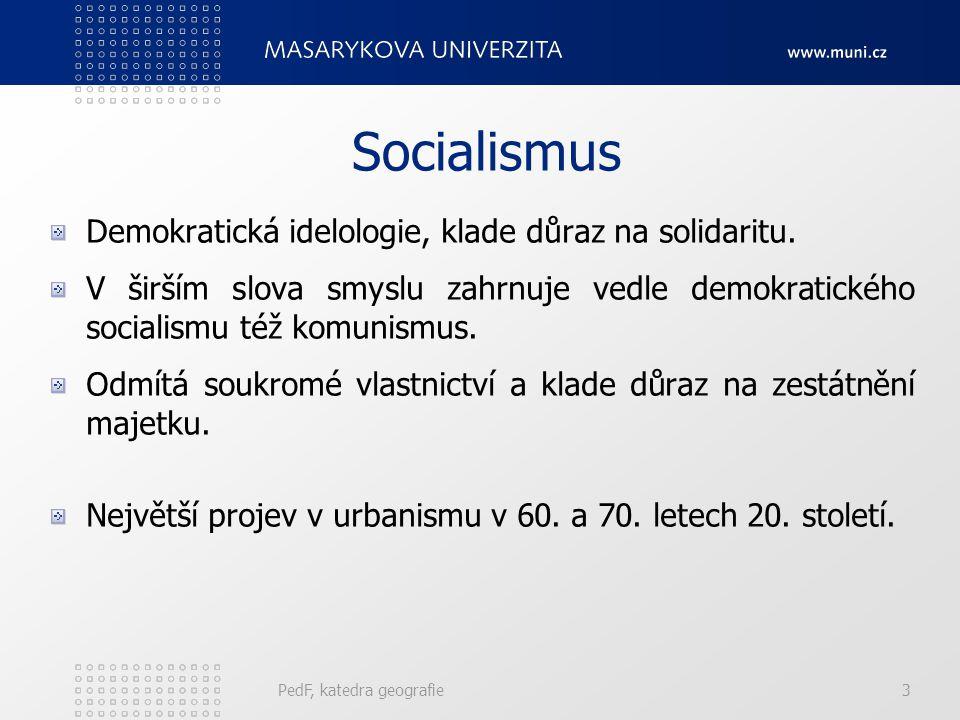 Socialismus Demokratická idelologie, klade důraz na solidaritu. V širším slova smyslu zahrnuje vedle demokratického socialismu též komunismus. Odmítá