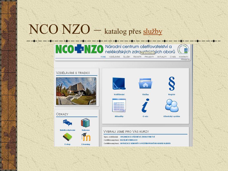 NCO NZO – katalog přes službyslužby