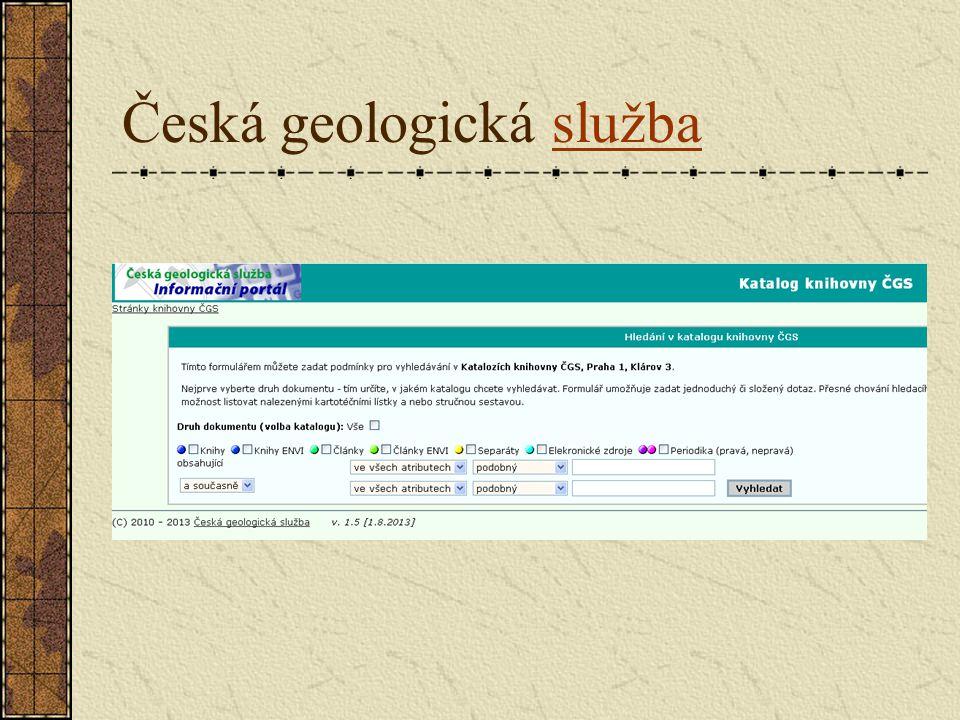 Česká geologická službaslužba