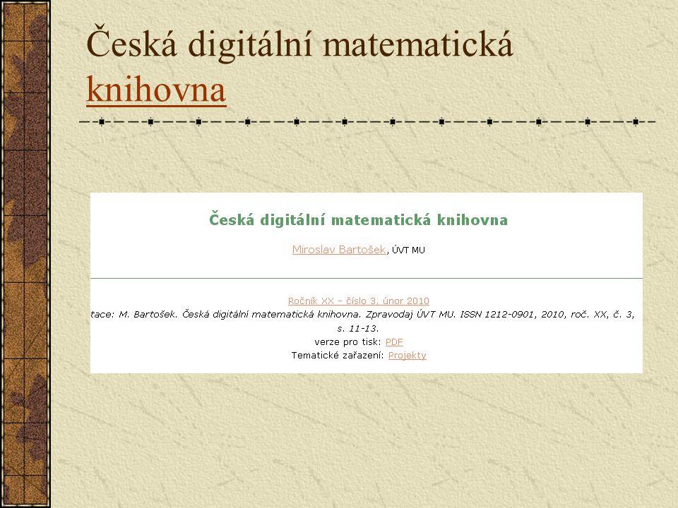 Česká digitální matematická knihovna knihovna