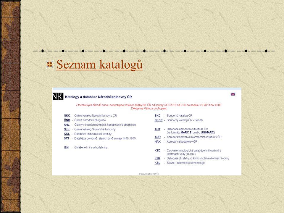 Seznam katalogů