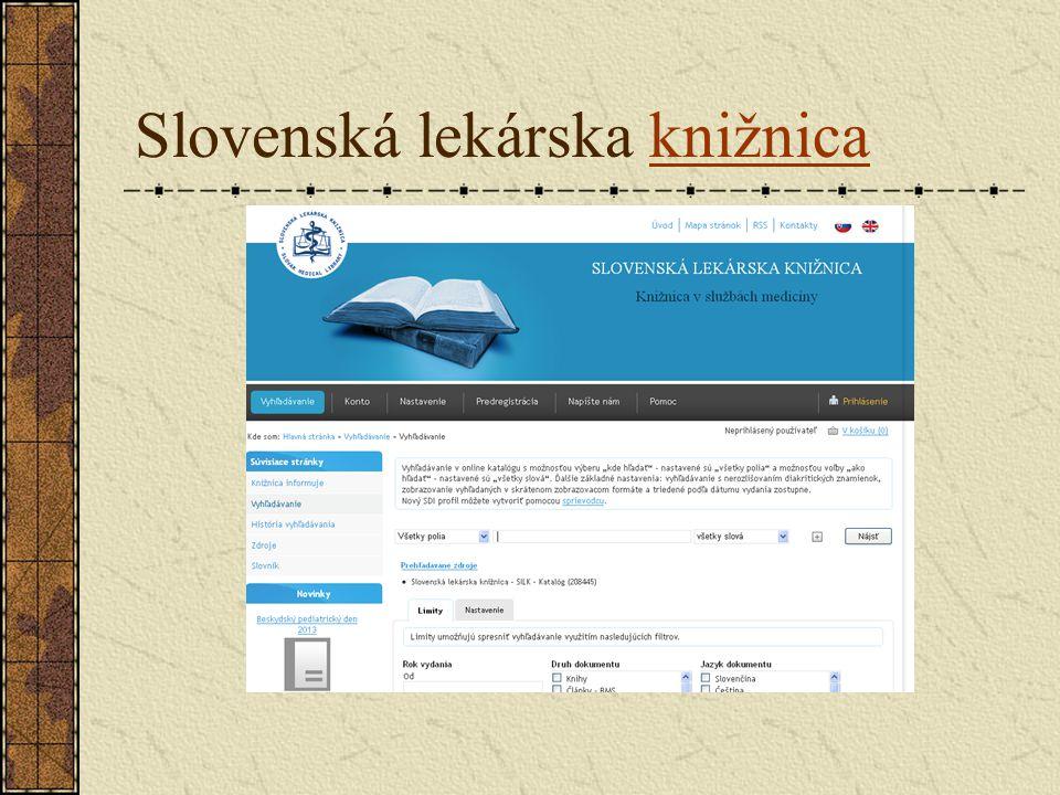 Slovenská lekárska knižnicaknižnica