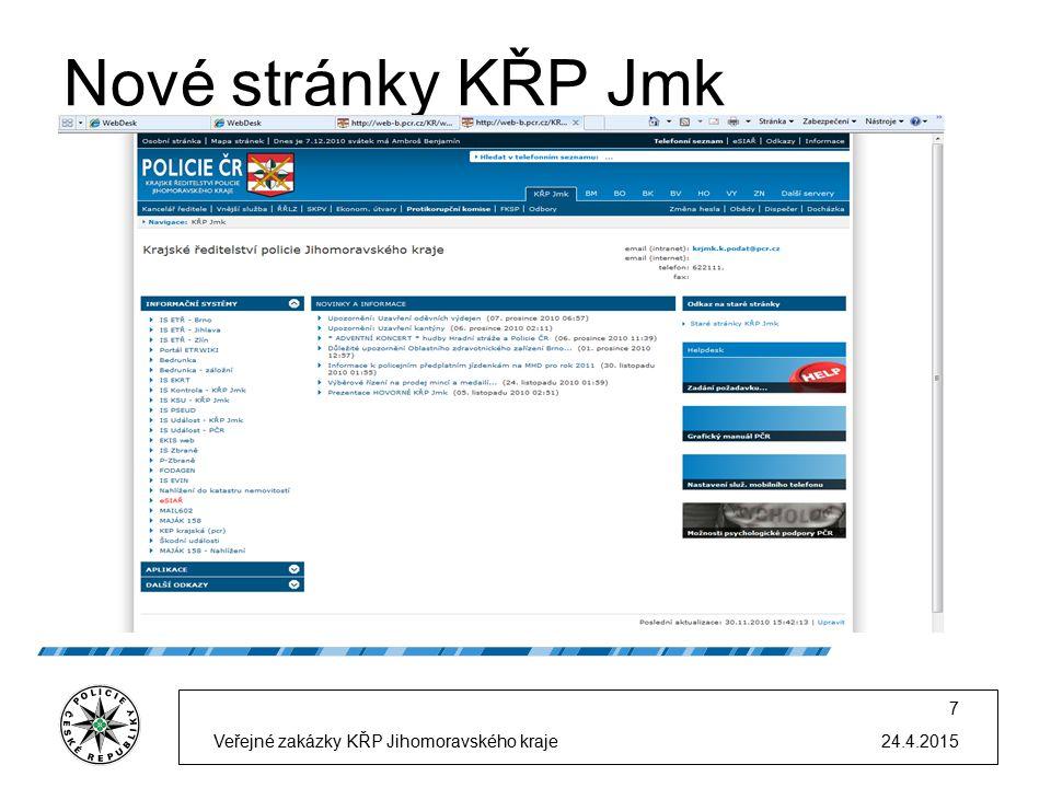 Nové stránky KŘP Jmk 24.4.2015Veřejné zakázky KŘP Jihomoravského kraje 7