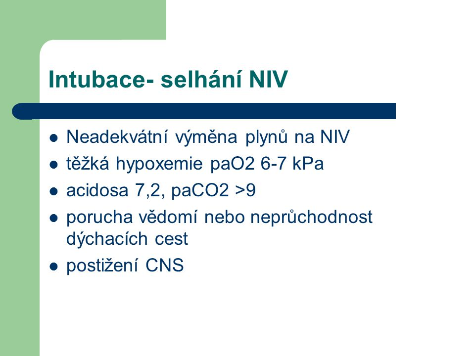 kontrola UPV Klinicky – nejsou známky respir.insuff.