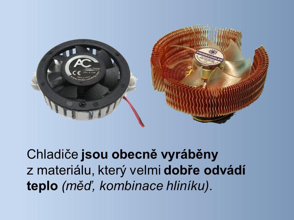Existuje také chlazení pomocí kapaliny (vodní).