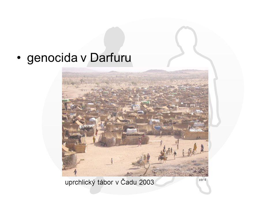 genocida v Darfuru obr 4 uprchlický tábor v Čadu 2003