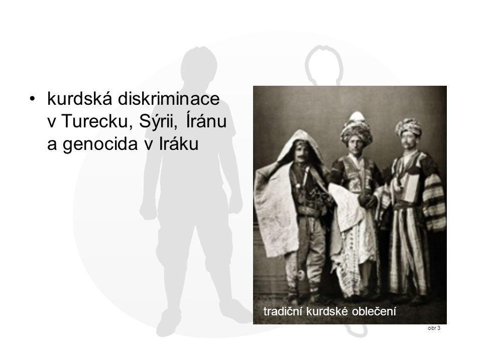 kurdská diskriminace v Turecku, Sýrii, Íránu a genocida v Iráku obr 3 tradiční kurdské oblečení