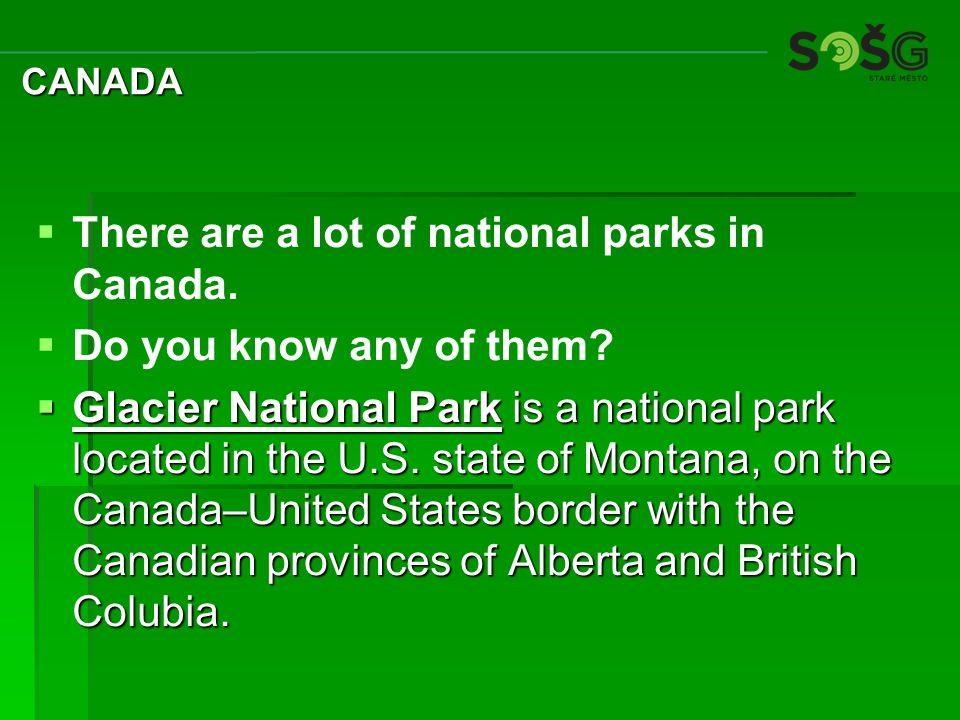  Where would you look for accommodation in Canada.