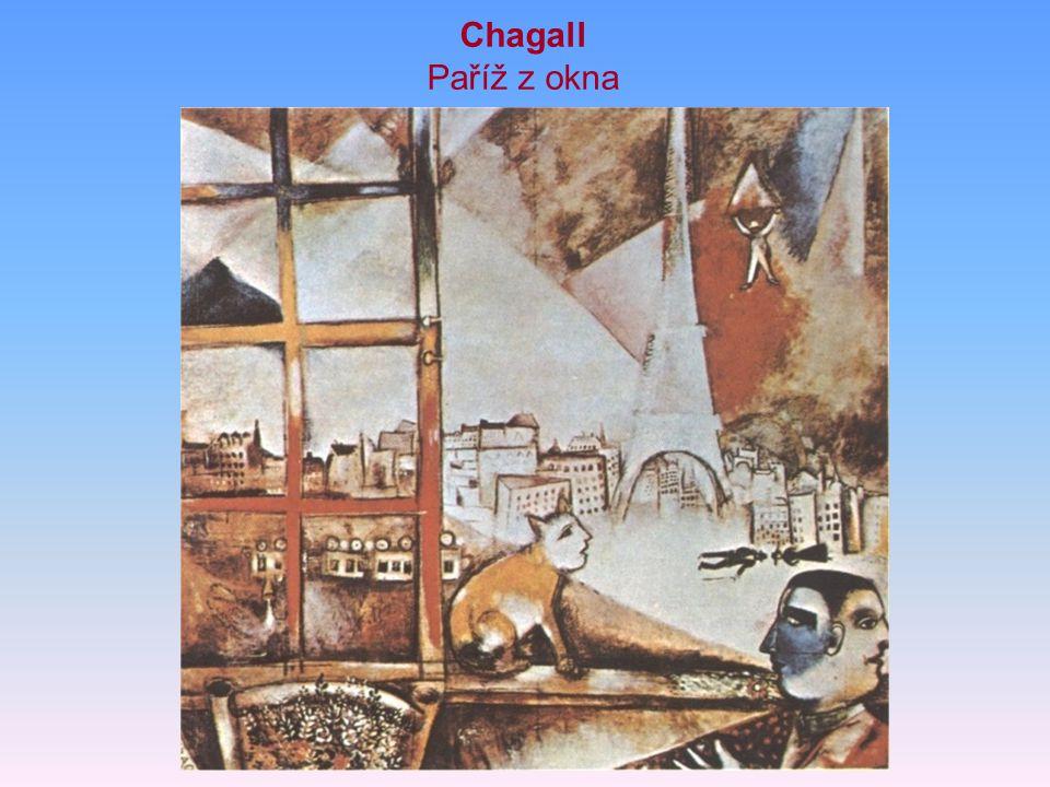 Chagall Paříž z okna