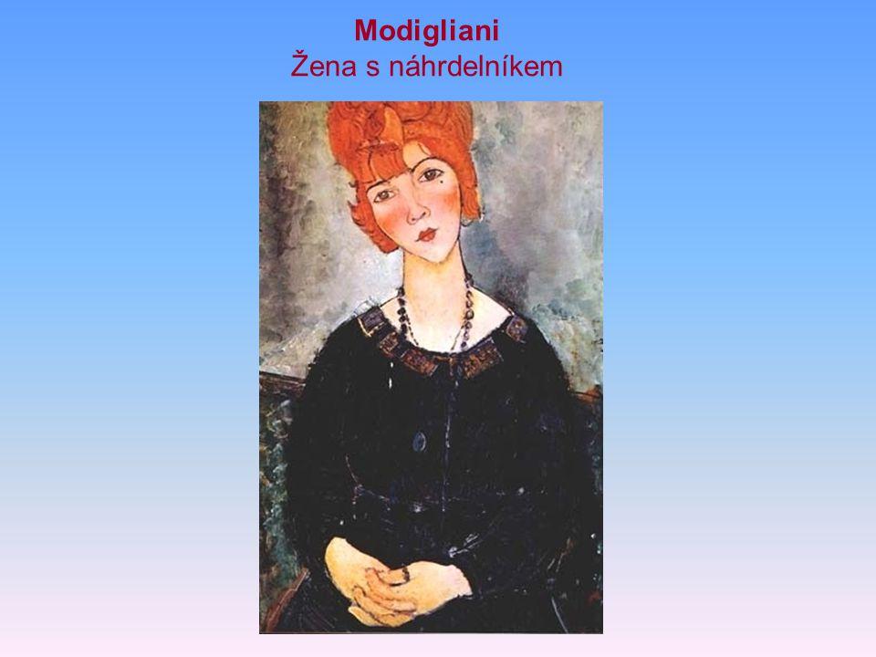 Modigliani Žena s náhrdelníkem