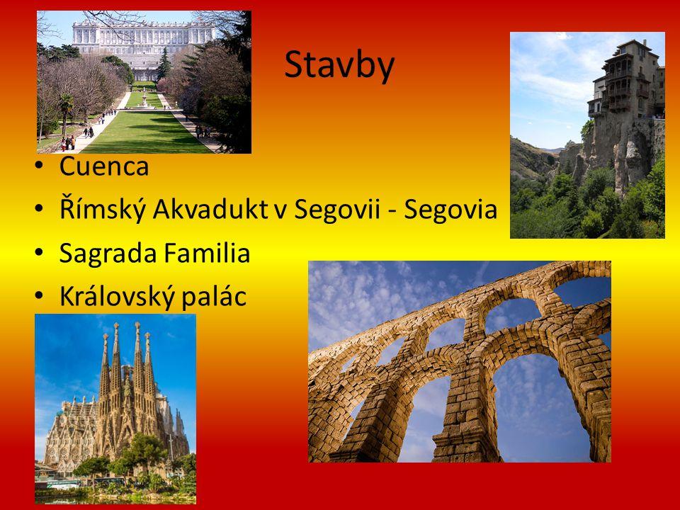 Stavby Cuenca Římský Akvadukt v Segovii - Segovia Sagrada Familia Královský palác