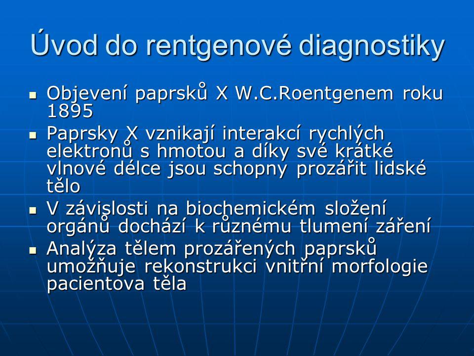 Úvod do rentgenové diagnostiky V průběhu 20.stol.