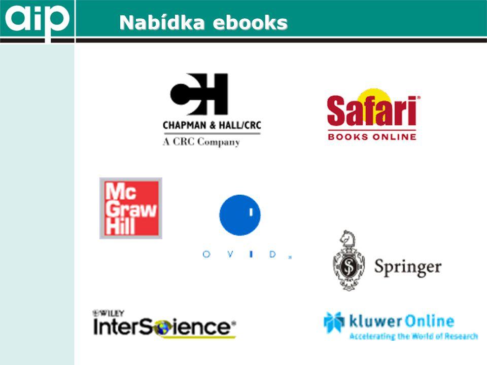 Nabídka ebooks