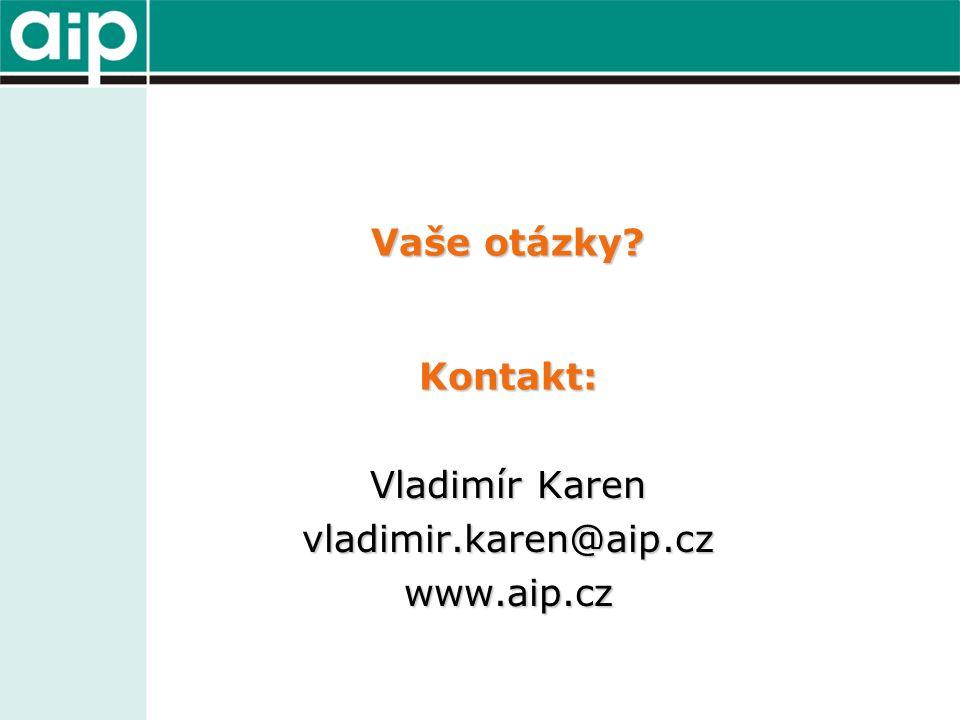 Vaše otázky Kontakt: Vladimír Karen vladimir.karen@aip.czwww.aip.cz