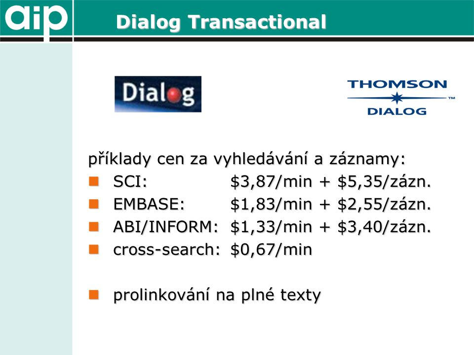 DataStar Transactional 300 databází – medicína, farmak.