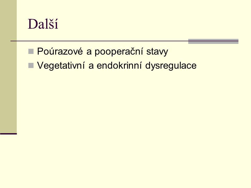 Další Poúrazové a pooperační stavy Vegetativní a endokrinní dysregulace