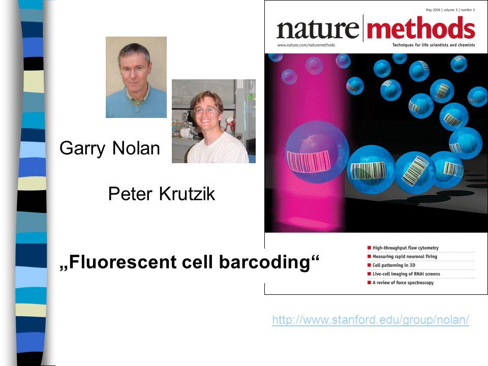 """http://www.stanford.edu/group/nolan/ Garry Nolan Peter Krutzik """"Fluorescent cell barcoding"""""""