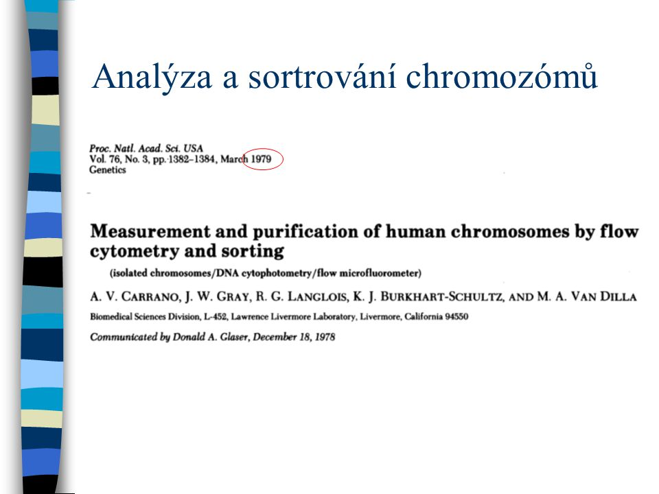 Analýza a sortrování chromozómů
