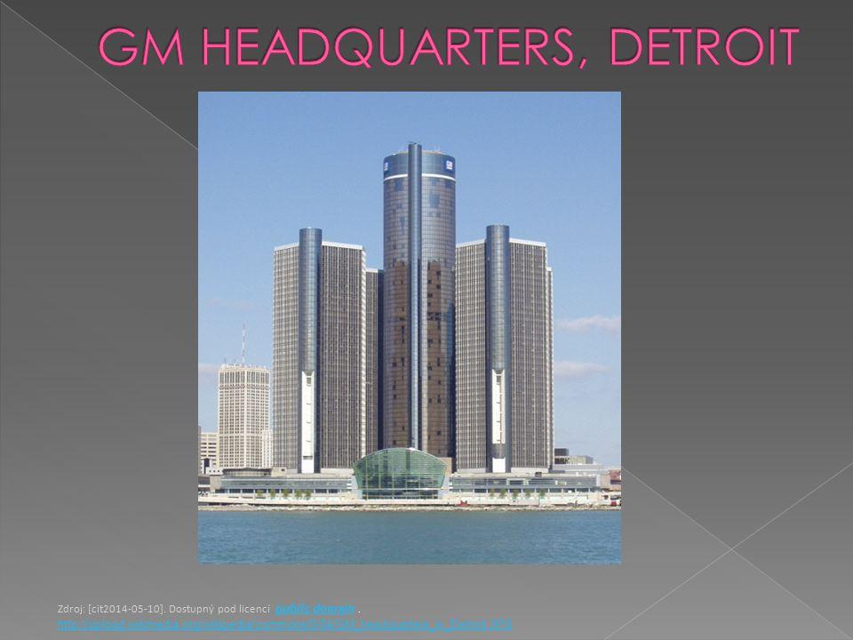 Zdroj: [cit2014-05-10]. Dostupný pod licencí public domain.public domain http://upload.wikimedia.org/wikipedia/commons/0/04/GM_headquarters_in_Detroit