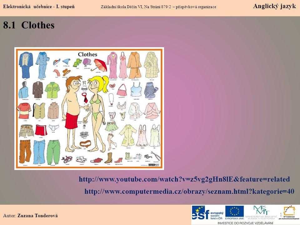 8.1 Clothes Elektronická učebnice - I.