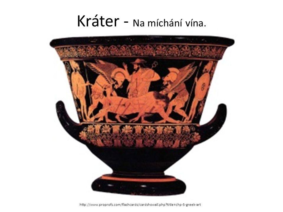 Kráter - Na míchání vína. http://www.proprofs.com/flashcards/cardshowall.php?title=chp-5-greek-art