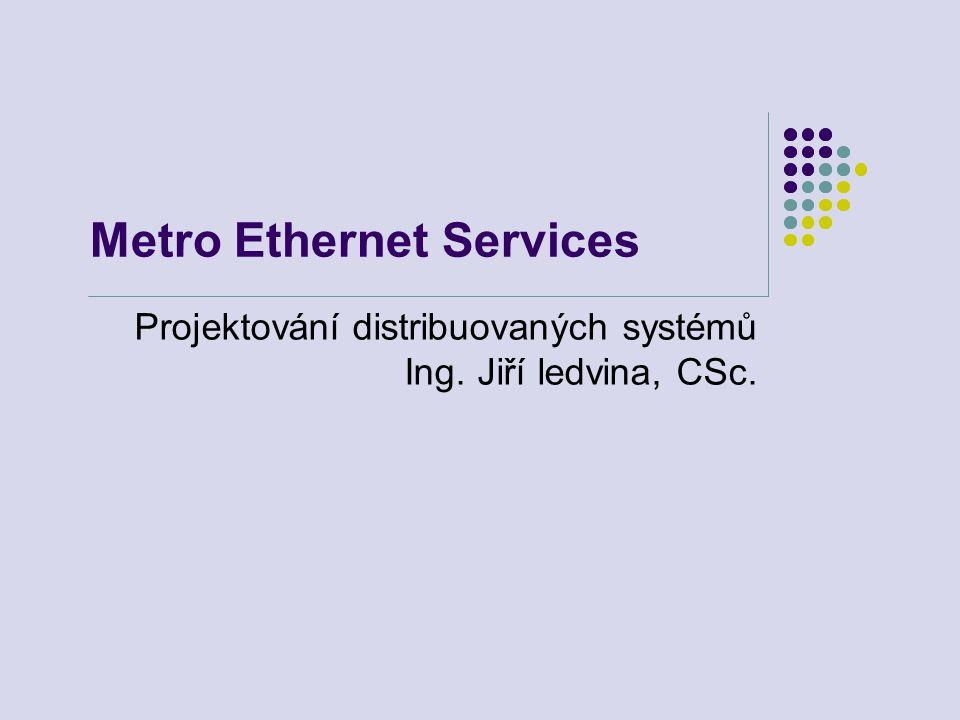 Metro Ethernet Services Projektování distribuovaných systémů Ing. Jiří ledvina, CSc.