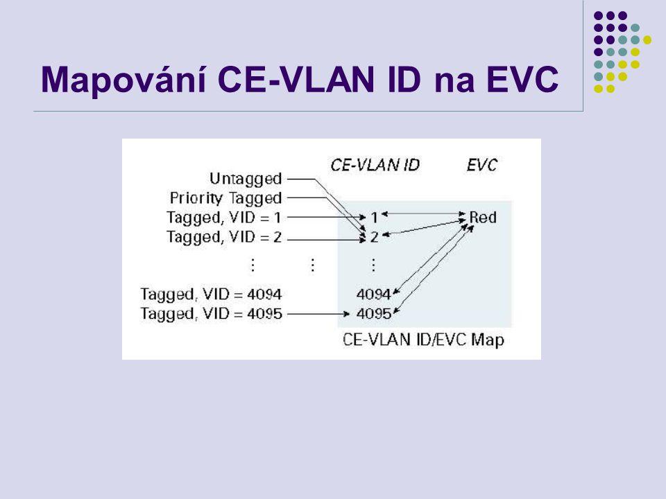 Mapování CE-VLAN ID na EVC