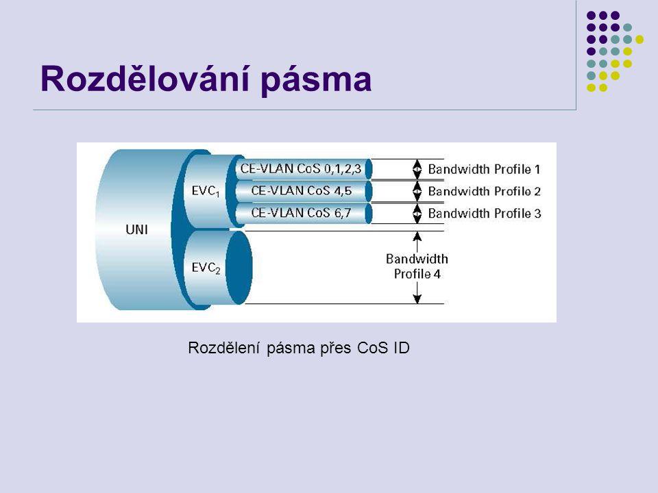 Rozdělování pásma Rozdělení pásma přes CoS ID