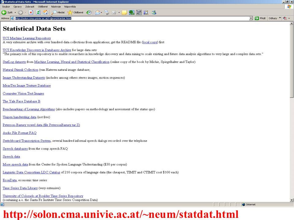 http://solon.cma.univie.ac.at/~neum/statdat.html