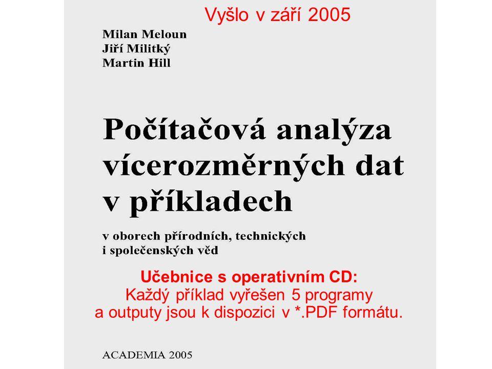 Učebnice s operativním CD: Každý příklad vyřešen 5 programy a outputy jsou k dispozici v *.PDF formátu. Vyšlo v září 2005