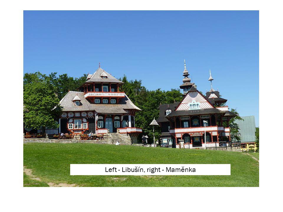 Left - Libušín, right - Maměnka