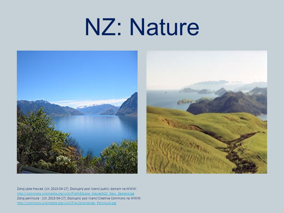 NZ: Nature Zdroj Lake Hawea: [cit. 2013-04-17].